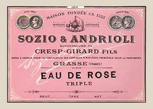 Picture of an old school Sozio label
